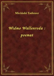 : Widmo Wallenroda : poemat - ebook